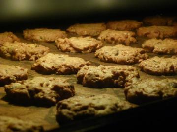 カントリークッキー 焼成中