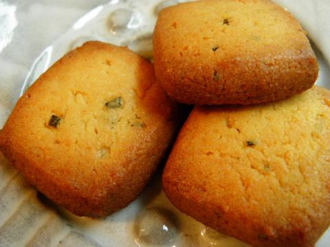 レモンとローズマリーのクッキー