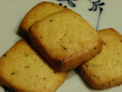 レモンとローズマリークッキー