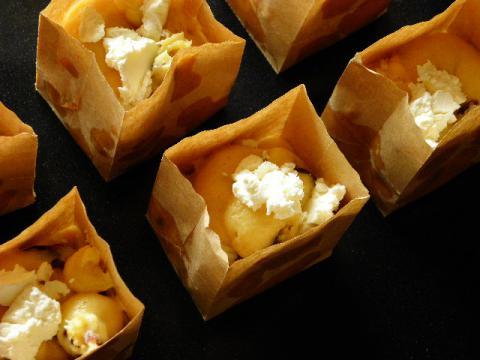 クランベリークリームチーズマフィン 焼成前