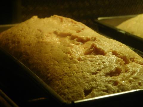 きなこのパウンドケーキ 焼成中