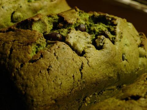 抹茶のパウンドケーキ 焼き上がり