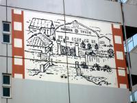 蒲田撮影所イラスト壁画