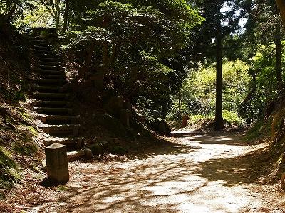 五号庵への道