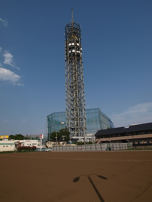 畑の中のタワー