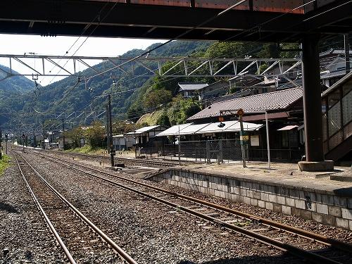 奈良井駅線路