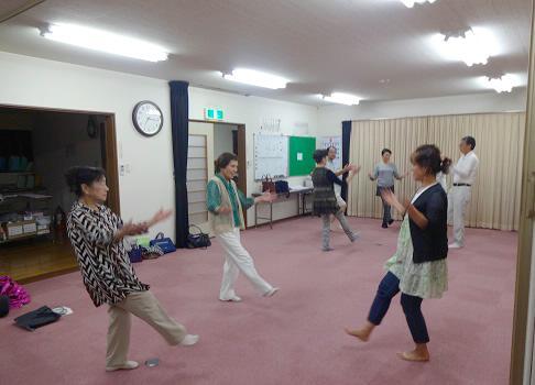 田上地区の伝統民俗芸能を披露しようと練習会も