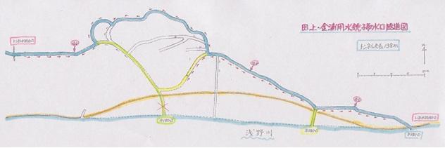亀田氏が調査した隧道の図