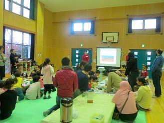 村田児童館館長の歓迎の挨拶
