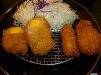 福勝亭特選雙盛定食の牡蠣フライとチーズ豚カツ130724