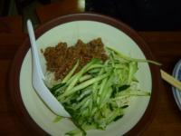 中華餡餅粥の榨醬麵130810