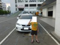 洗車が終わったCT200hと記念撮影130810