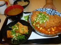 三重家楽福鮮五丼の麻婆豬排丼130810