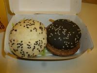 麥當勞黑白搖滾餐の白黒バーガー130813