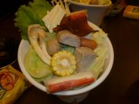 日式火鍋の野菜盛り130823