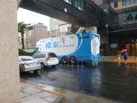 ホテルにはTV取材車も来てます130829