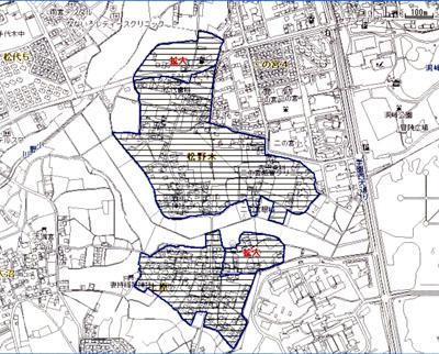 松野木 区域指定地図