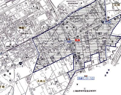 大角豆 区域指定地図