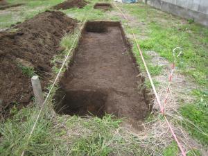 埋蔵文化財の試掘