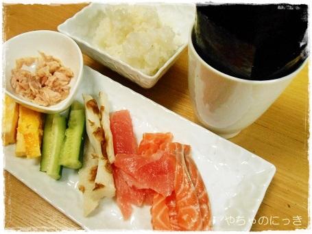 20140207山本海苔店手巻き寿司1