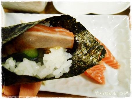 20140207山本海苔店手巻き寿司3