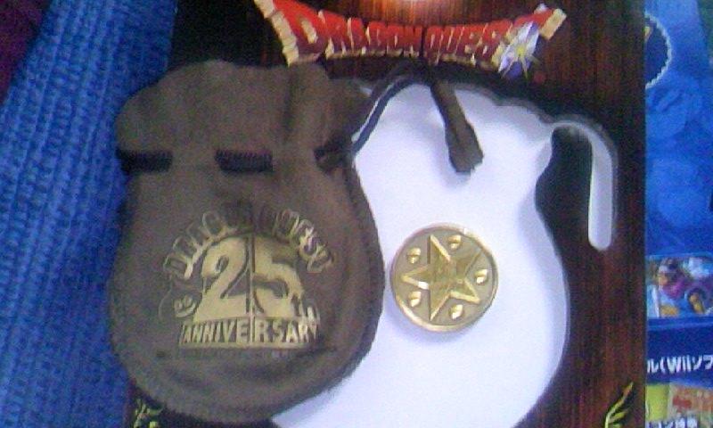 ちいさなメダルと袋