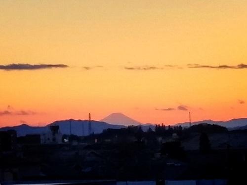 夕暮れ富士山!