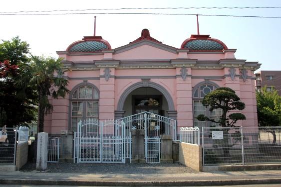 水戸商業高等学校旧本館玄関