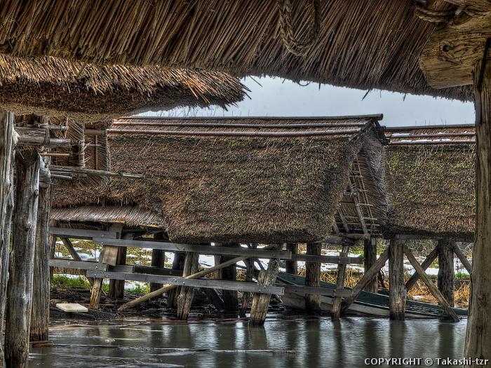 三方五湖の舟屋