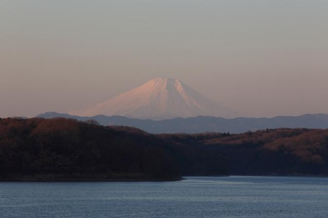 2014年元旦の富士山@狭山湖