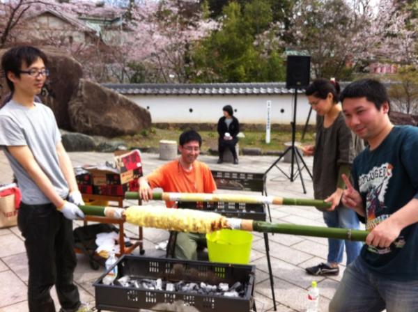 2012 犬山恋愛祭り 巨大バームクーヘン