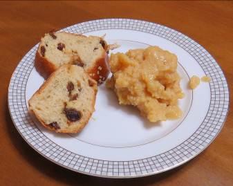 カリン残渣ジャムとブドウパン