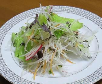 コーラルリーフを使った野菜サラダ