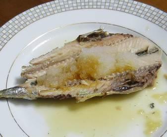 カボスポン酢と焼き魚