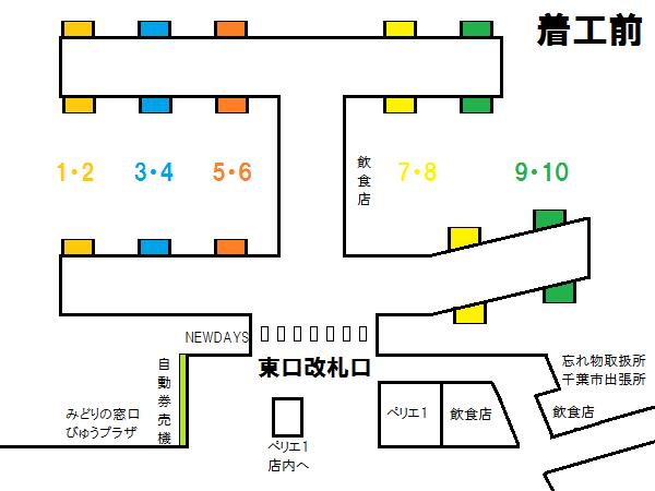 着工前から現在までの千葉駅構内通路の変遷。
