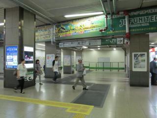 旧券売機跡地は1~6番線へ向かう通路の一部となる。