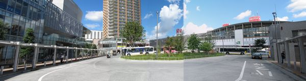 再開発が完了した武蔵小金井駅南口