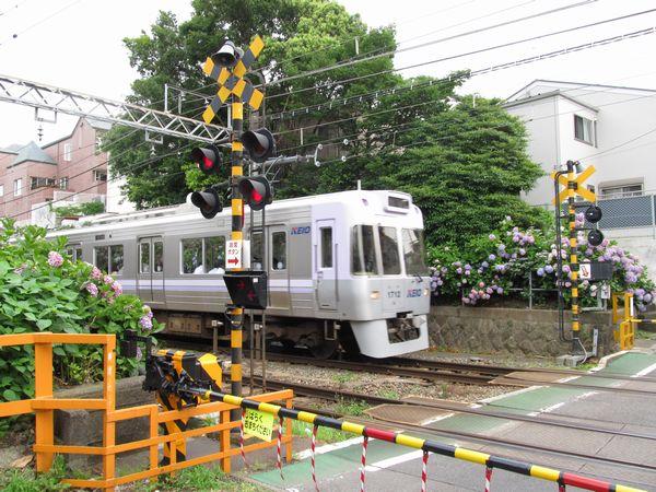新代田~東松原館の中央付近にある踏切