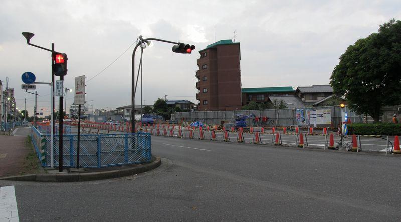 小竹向原駅側の連絡線合流地点の地上。