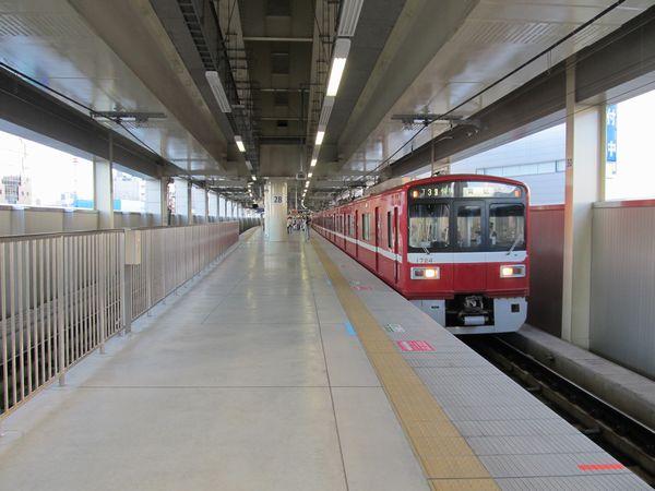 本線ホームの停止位置が変更された京急蒲田駅上り線ホーム