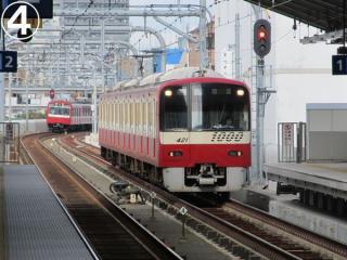 京急蒲田→京急川崎を走行中