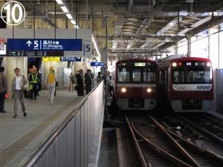 京急蒲田駅5番線に到着