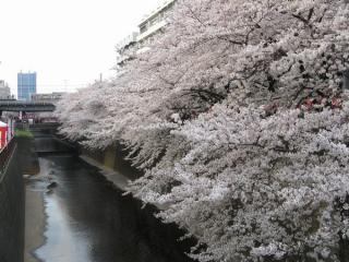 東急東横線中目黒駅と交差