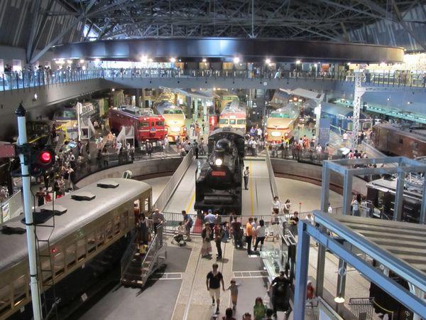 鉄道博物館の転車台。訪問時は丁度C57 135の汽笛吹鳴の実演が行われていた。