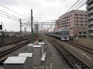 使用を停止した練馬高野台駅石神井公園方の留置線。