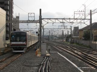 保谷駅北側の留置線も大幅に配線が変化した。
