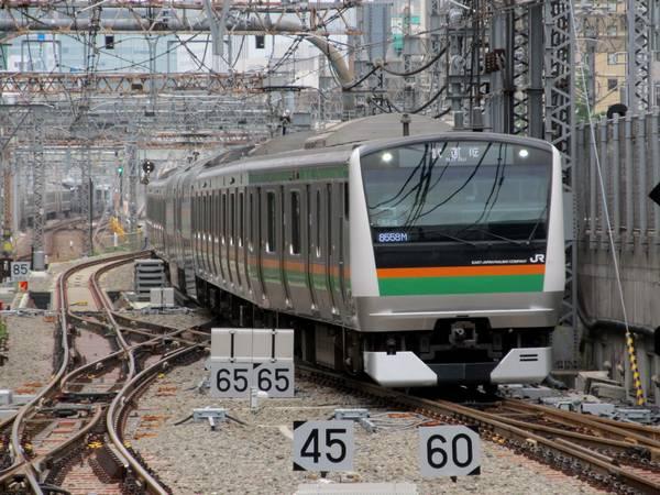 東京駅構内に進入…