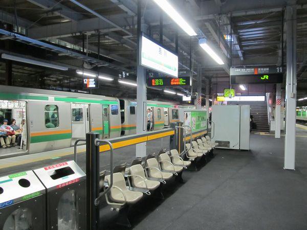 9月23日より東海道線下り本線として使用を再開した12番線。