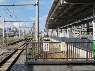 11番線の東京寄りも同様に柵が設置されている。