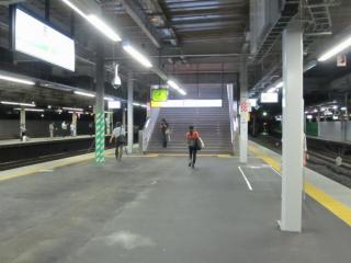 使用を開始したホーム横浜寄りの階段。